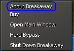 select about Breakway from the menu