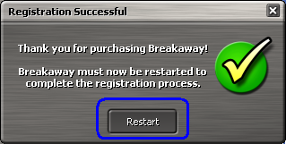 press the restart button